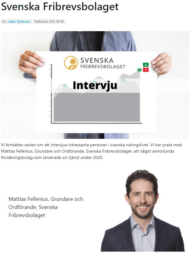 Intervju med svenska fribrevsbolaget